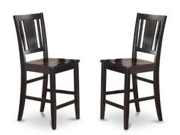 East West Furniture BUS-BLK-W Counter Height Chair Set for D
