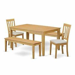CAAN5C-OAK C 5 Pc set for 4 - Table and 2 Dining Chairs plus