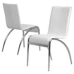 Best Selling Cambridge Modern Chair, White, Set of 2