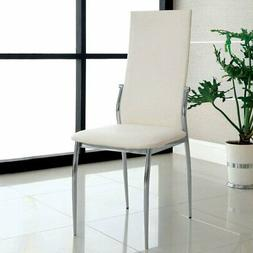 Furniture of America Caula Leatherette Dining Side Chairs -