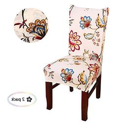 Argstar 2pcs Chair Covers for Dining Room Spendex Slipcovers
