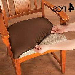 Chair Seat Covers, Stretchable Dining Slipcovers, Soft Prote