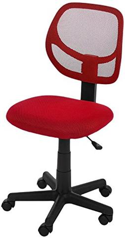 AmazonBasics Low-Back Computer Chair Red Chairs Office Furni
