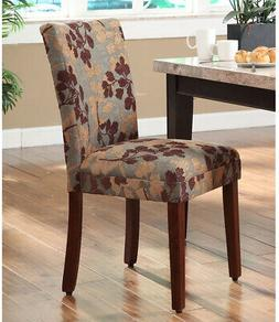 Classic Sage Leaf Pattern Fabric Dining Chair Home Lounge Mo