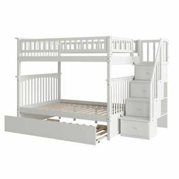 Atlantic Furniture Columbia Full Over Full Staircase Trundle