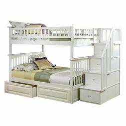 Atlantic Furniture Columbia Staircase Full Over Full Bunk Be