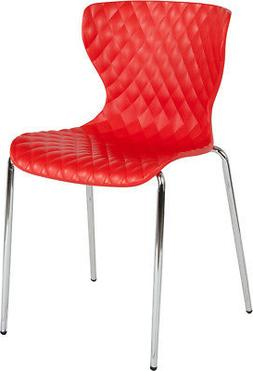Contemporary Design Accent Dining Plastic Stack Chair
