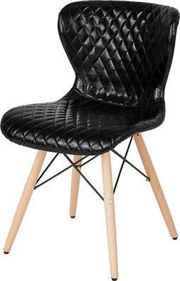 Contemporary Upholstered Chair with Wooden Legs