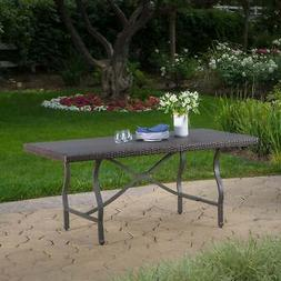 Costa Mesa Outdoor Wicker Dining Table by Christopher Knight