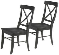 International Concepts Crossback Chairs with Solid Wood Seat