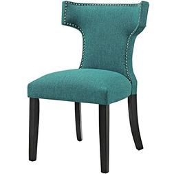 Modway Curve Mid-Century Modern Upholstered Fabric Dining Ch