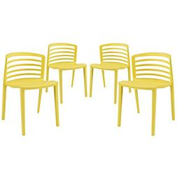 Curvy Dining Chairs - Set of 4 by Modway