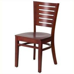 Flash Furniture Darby Restaurant Dining Chair in Mahogany