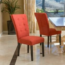 Great Deal Furniture  Darrel Fabric Orange Dining Chair