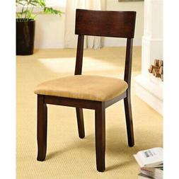 Furniture of America Deb Dining Side Chair in Dark Cherry