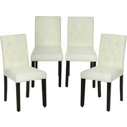 Dining Chairs Armless Kitchen Room Chair Accent Solid Wood M