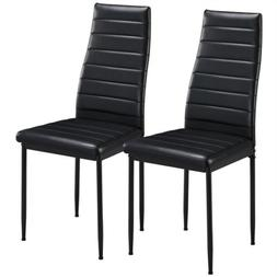 dining chairs high back faux leather modern