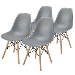 Dining Chairs with Beech Wood Legs and Metal Wires Kitchen L