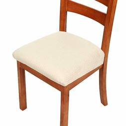 Dining Room Chair Covers Set of 4 Chair Seat Covers - Remova