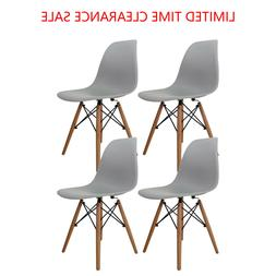 Dining Side Chair Pre Assembled Mid-Century Modern Style Pla