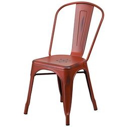 Distressed Red Metal Chair ET-3534-RD-GG