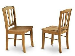 East West Furniture DLC-OAK-W Dining Room Chair With Wood Se