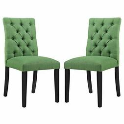 Modway Duchess Tufted Dining Side Chair in Green