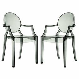 Modway EEI-905-CLR Casper Dining Armchairs Set of 2 In Clear