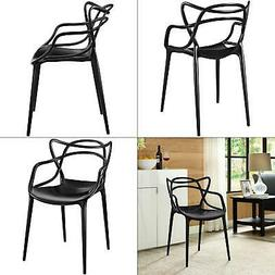 entangled black dining arm chair | armchair modway modern co