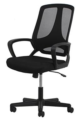 Essentials Swivel Mesh Task Chair with Arms - Ergonomic Comp