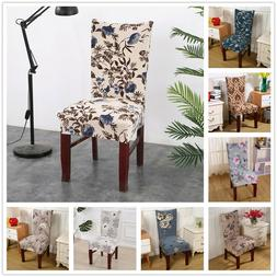 Florals Spandex Stretch Elastic Chair Covers for Dining room