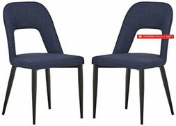 Rivet Florence Mid-Century Wide Open-Back Accent Dining Chai