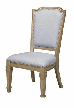 Florence Upholstered Dining Chairs with Tack Trim Grey and R