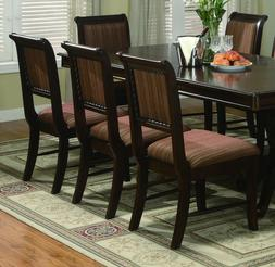 Formal Dining Room Set of 6pcs Side Chairs Multi Textured Fa