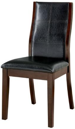 Furniture of America Cypress Leatherette Parson Dining Chair