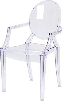 ghost chair w arms transparent