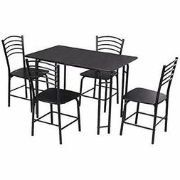 Giantex 5 PCS Dining Table Set 4 Person, Modern Kitchen And