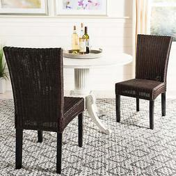 Safavieh Charlotte Wicker Dining Side Chairs - Colonial - Se