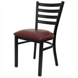 Flash Furniture Hercules Dining Chair in Burgundy and Black