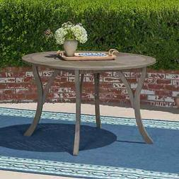 """Hermosa Outdoor 47"""" Round Dining Table by Christopher Knight"""