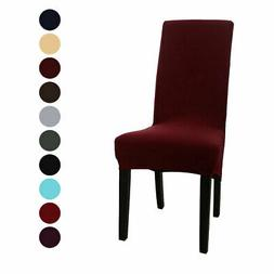 High Back Chair Slipcover Spandex Long Back Dining Chair Sea