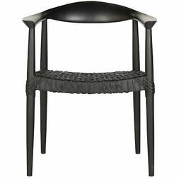 Safavieh Home Collection Bandelier Black Arm Chair