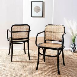 Safavieh Home Keiko Black And Natural Cane Dining Chair,
