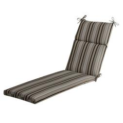 Pillow Perfect Indoor/Outdoor Black/Beige Striped Chaise Lou
