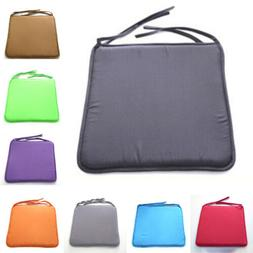 Indoor Outdoor Seat Pad Solid Square Removable Chair Cushion