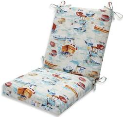 Pillow Perfect Indoor/Outdoor Spinnaker Bay Sailor Squared C