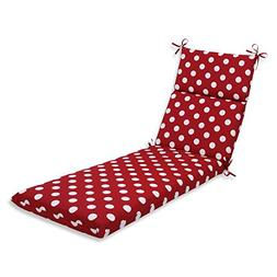 Pillow Perfect Indoor/Outdoor Red/White Polka Dot Chaise Lou