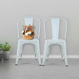 Iron Metal Classic Dining Chair Stackable Side Chairs Bar Ch