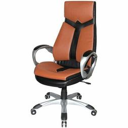 Boraam Jacob Faux Leather Swivel Office Chair in Black and B