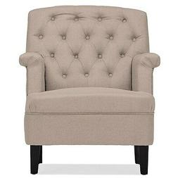Jester  Modern Contemporary Beige Fabric Upholstered Button-